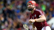 Joe Canning celebrating his goal against Clare