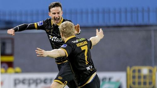 Ronan Finn celebrates with Daryl Horgan