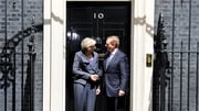 Enda Kenny is holding talks with Theresa May at Downing Street
