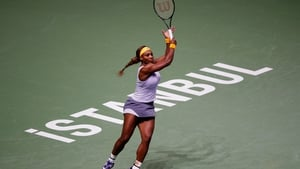 Serena Williams in action in the Paribas WTA Championships in Istanbul