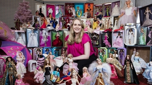 Glenda Taylor with her Barbie collection