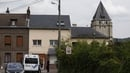 A view of the church in the Normandy village of St-Etienne-du-Rouvray where a priest was killed