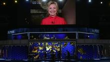 'Scoilt mhór sa tsíleáil ghloine' é ainmniúchán Clinton