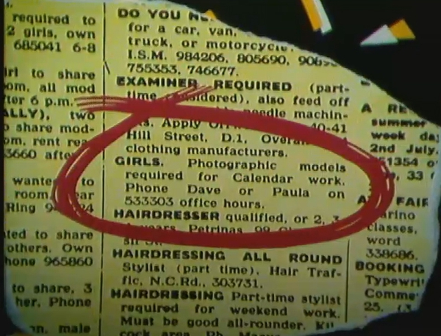 Glamour Model Ad (1986)