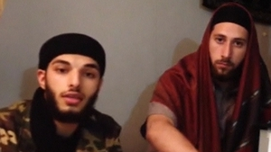 One of the attackers has been named as Adel Kermiche (L), the second man is unidentified