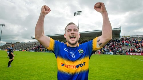 Kevin O'Halloran celebrates beating Derry