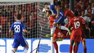 Gary Cahill heads in the only goal of the game
