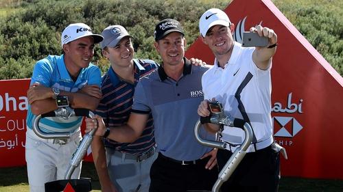 From L-R: Rickie Fowler, Jordan Spieth, Henrik Stenson and Rory McIlroy