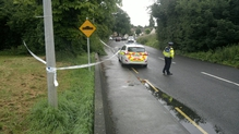 The woman was pushing her bicycle along the Lucan-Newlands Road when she was attacked