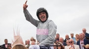 Ruby Walsh celebrates winning The Guinness Galway Hurdle Handicap
