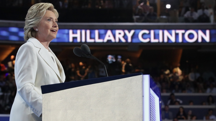 Hillary Clinton formally accepts DNC nomination to run for US President
