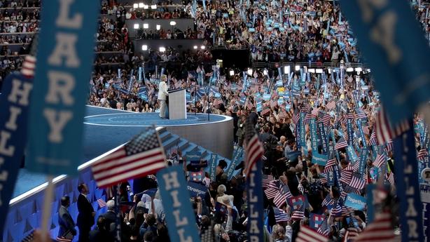 Hillary Clinton addresses delegates