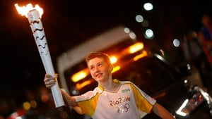 Mark is one of around 12,000 torchbearers ahead of next Friday's opening ceremony