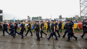 A heavy security operation is in place during the Papal visit