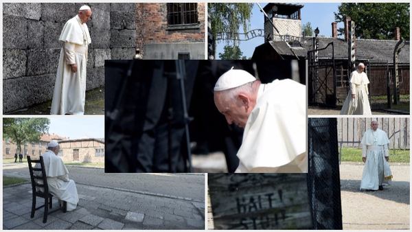 Pope Francis visited the former Nazi death camp at Auschwitz-Birkenau