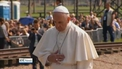 Pope prays for Aushwitz victims on visit to concentration camp