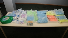 Ecstasy tablets, cocaine and cash were all seized at an apartment on D'Olier Street