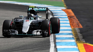 Nico Rosberg has topped all three practice sessions at Hockenheim.