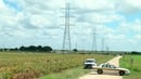 The hot air balloon crashed in a field near the Texas city of Lockhart