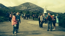 Mass was celebrated on the summit every half hour between 8am until 2pm
