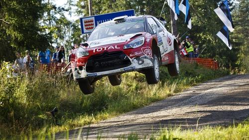 Kris Meeke and Paul Nagle in their Citroen DS3 WRC