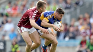 Galway's Liam Silke tackles Tipperary's Philip Austin