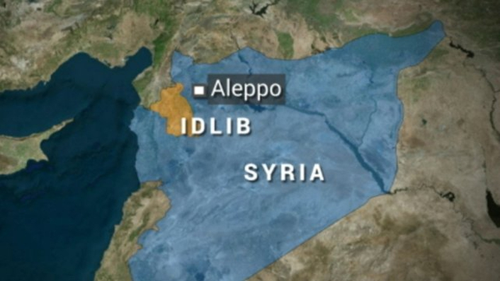 Syrian government forces accused of dropping chlorine bombs in Aleppo