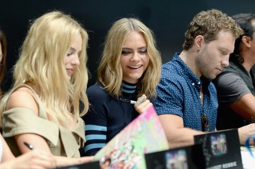 Suicide Squad co-stars Margot Robbie and Cara Delevingne