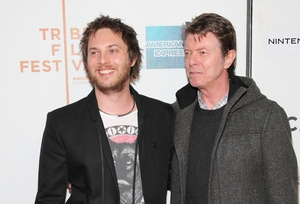 Duncan Jones and his late father, David Bowie.