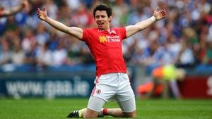 Mattie Donnelly celebrates last year's quarter-final win over Monaghan
