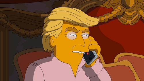 Donald Trump given The Simpsons treatment