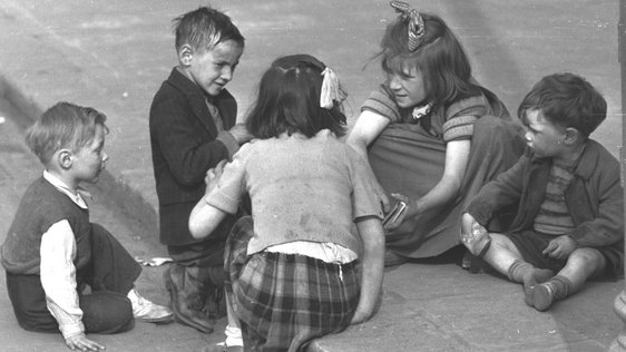 1950s Children Playing Cards