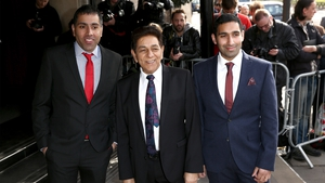Umar (left) and Baasit (right) Siddiqui with their father Sid