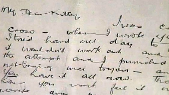 Letter from Michael Collins to Kitty Kiernan (1996)