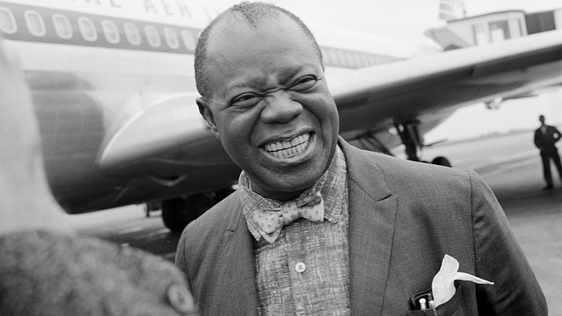 Louis Armstrong at Dublin Airport (1967)
