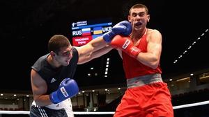Evgeny Tishchenko (Red) will compete at 91kg