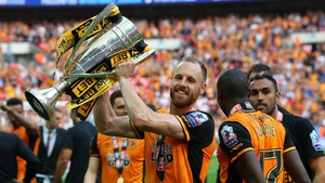 David Meyler with the play-off trophy