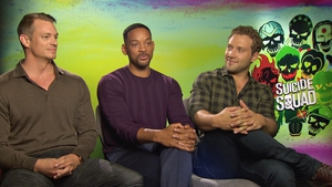 Joel Kinnaman, Will Smith and Jai Courtney