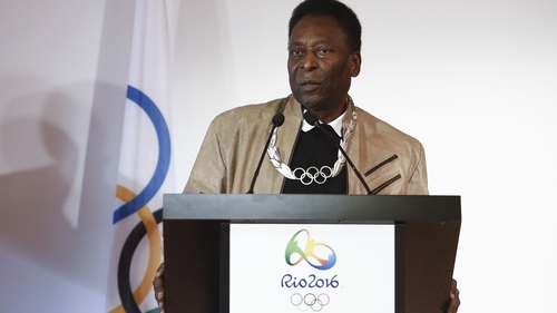 Pele will not be on hand to light the Olympic cauldron