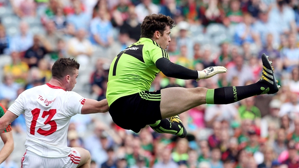 Clarke in action for Mayo in their All-Ireland quarter-final win over Tyrone