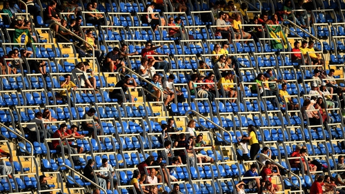 Empty seats during the Men's Group D first round match between Honduras and Algeria at the Rio 2016 Olympic Games