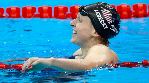 Swimming - Ledecky gets third gold, Franklin a first in Rio