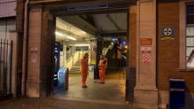 The man was pronounced dead at the scene at the station