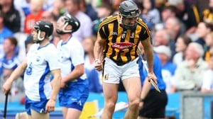 Kilkenny's Conor Fogarty celebrates scoring the equalising point against the Déise