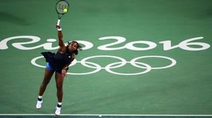 Serena Williams was made to work hard in the first set