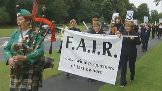 Wives Of Taxi Drivers Protest