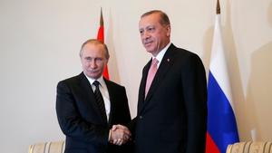 Tayyip Erdogan met Vladimir Putin earlier today