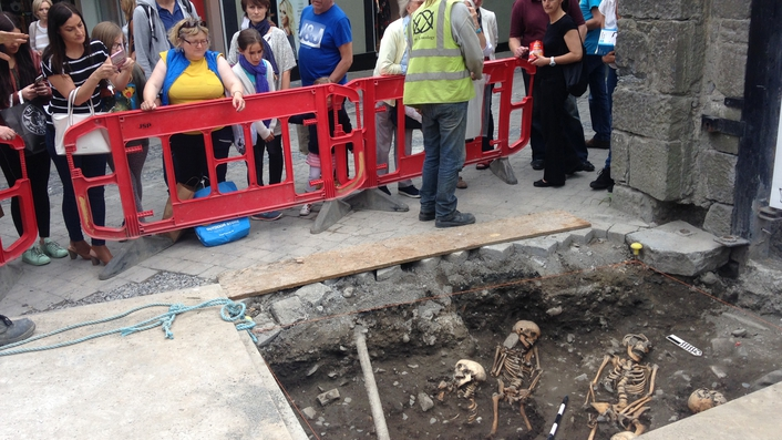 Medieval skeletons discovered in Kilkenny