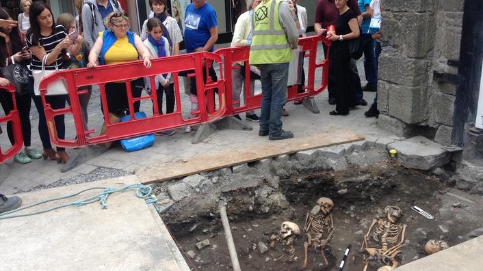 Medieval skeletons discovered in Kilkenny