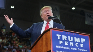 Donald Trump was speaking at a rally in Wilmington, North Carolina